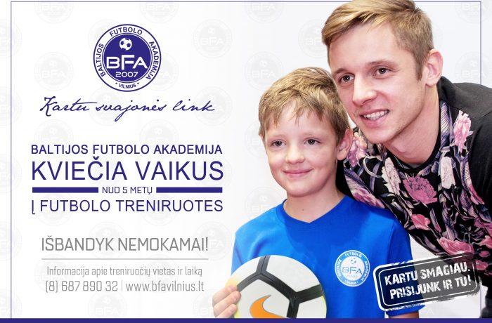 Arvydas Novikovas kviečia į BFA